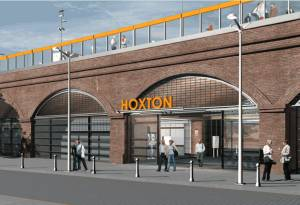 Impression of Hoxton station