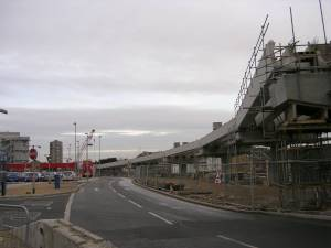 City Airport construction site, Dec 2004