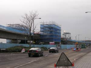West Silvertown station under construction, Dec 2004