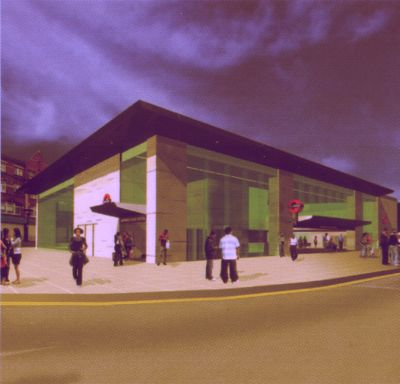 Impression of the enlarged Central Line station at Shepherd's Bush
