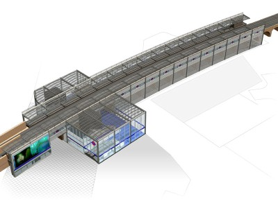 Impression of the new Hammersmith & City line station at Wood Lane